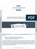 HESI Test - Free Most Up to Date Sample