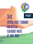 3rd General Draft Standard for Bottled Flavoured Water Ihwf Chennai