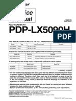 Pioneer PDP LX5090H Service Manual (EN)