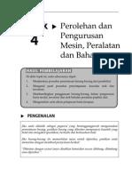 Topik 4 Perolehan Dan Pengurusan Mesin Peralatan Dan Bahan