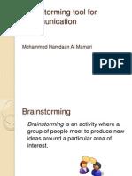 Brainstorming Tool for Communicaton