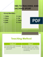 Approaches to Teaching and Coaching Sport
