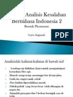 Contoh Analisis Kesalahan Berbahasa Indonesia 2