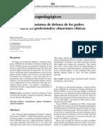 2005 Los mecanismos de defensa de los padres hacia los profesionales, situaciones clínicas.pdf