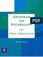 Grammar and Vocabulary for First Certificate - Luke Prodromou