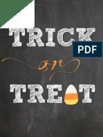 Trick or Treat Chalkboard Printable