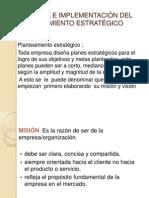 Control e Implementación Del Planteamiento Estratégico