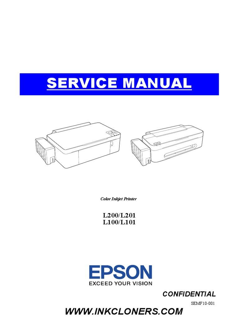 epson l100 l101 l200 l201 service manual repair guide