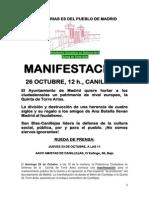Nota prensa - Manifestación Torre Arias 26Oct14