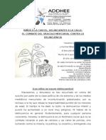 NIÑOS A LA CARCEL, DELINCUENTES A LA CALLE.doc