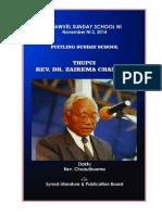 KVSS - 2014 Puitling - Rev Dr Zairema Chanchin