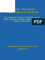 Antiplatelet / Anticoagulant Therapy Evidence and Guidelines