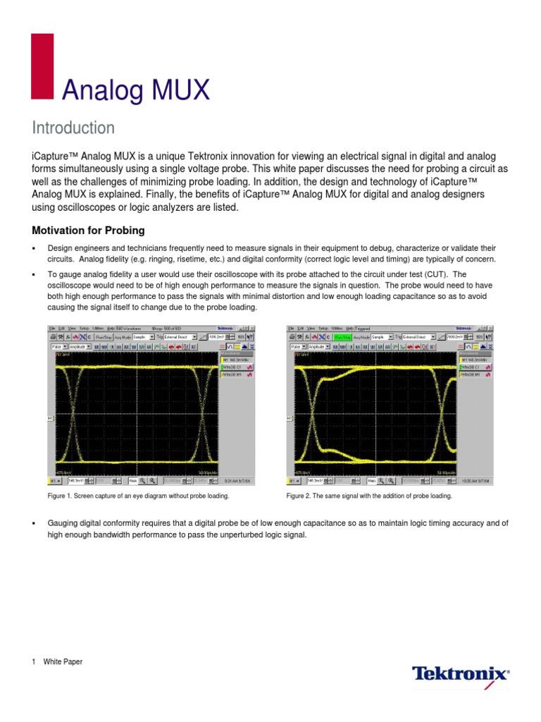 Icapture Analog Muxpdf Signal Electrical Engineering Computer Eye Diagram