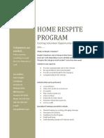 Syracuse VA Respite Care pamphlet