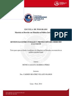 TESIS SENTENCIAS ESTRUCTURALES Y PROTECCION DEL DERECHO A LA