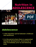 Nutrition on adolescence and elderly- NUTRITION SUBJECT