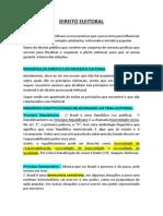 DIREITO ELEITORAL - Eduardo Medeiros - resumo.pdf