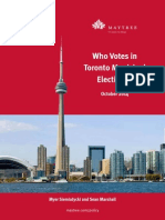 Who Votes in Toronto Municipal Elections?