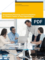 Sap Bpc Streamlined Planning and Consolidations for Finance Teams in Any Organization