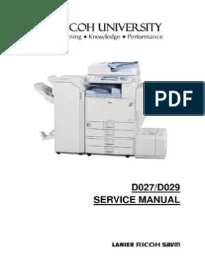 Ricoh Color Copier [D027, D029] Aficio MP C4000, MP C5000 Parts