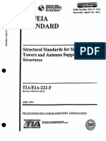 EIA TIA 222 F Structural Standards for Steel Antenna Towers and Antenna Supporting Structures