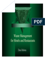 Waste Management for Hotels and Restaurants