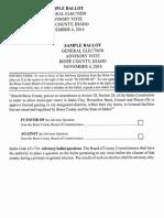 Boise County Sample Ballot