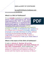 Writ of Kalikasan and Writ of Continuing Mandamus