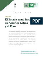 """Seminario """"El Estado como institución en América Latina y el Perú"""" - Programa"""
