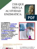 FARMACOS QUE DETIENEN LA ACTIVIDAD ENZIMATICA.pptx