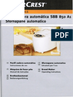 Máquina de Pão Silvercrest (LIDL) - Manual PT