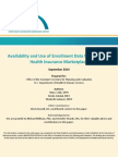 Availability and Use of Enrollment Data from the ACA Health Insurance Marketplace