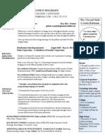 Developer Resume October 2014