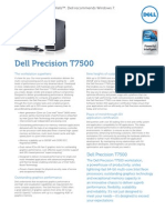 Dell Precision t7500 Specsheet