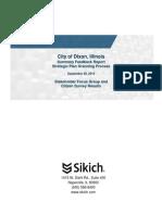 City of Dixon Summary Feedback Report Strategic Plan 2