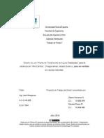 Tesis Diseño de Planta de Tratamiento de Aguas residuales