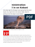 The Administration Goes All in on Kobani