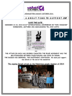 Coalition of Women for Peace Newsletter- Oct 2014 Anti-war Activities & Save the Date