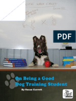 On Being a Good Dog Training Student - Susan Garret