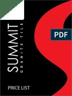 Summit Price List 2014