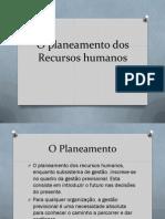 O Planeamento Dos Recursos Humanos Ppt