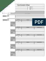 Plantilla XLS Para Curriculum CV (Excel)