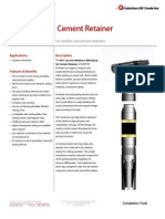 WCT Cast Iron Cement Retainer Technical Datasheet