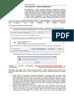 (123592994) Modul 1 - Instalasi Delphi 7 Pada Windows 7