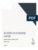 Securities Law for Business Lawyers
