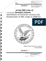 DOJ OIG Review of FBI's Use of National Security Letters 2006