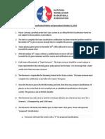 NWBA Classification Policy