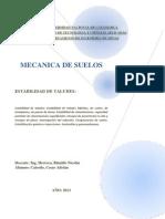 Mecanica de suelos. Estabilidad de taludes.docx