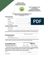 2014 Student Boardworker Application