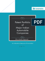 Patent portfolio of major indian automobile companies 2014